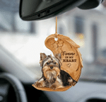 Yorkie Forever In My Heart Hanging Ornament-2D Effect