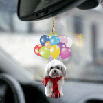 Havana dog fly with bubbles dog hanging ornament-2D Effect