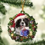 Border Collies Either Christmas Gift Acrylic Ornament