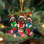 Spanish Water Dog Christmas Socks Ornament