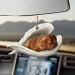 Dogue De Bordeaux Sleeping Angel Ornament