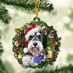 Schnauzer Christmas Gift Acrylic Ornament