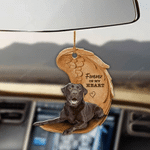 Chocolate Labrador Retriever Forever In My Heart Hanging Ornament-2D Effect