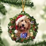 Labradoodle Christmas Gift Acrylic Ornament