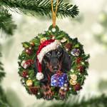 Black Tan Dachshund Christmas Gift Acrylic Ornament