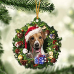 Jack Russell Terrier Christmas Gift Acrylic Ornament