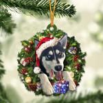 Husky Christmas Gift Acrylic Ornament Cus