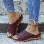 Women'S Leather Soft Footbed Orthopedic Arch-Support Sandals
