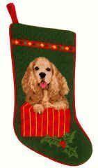 Fawn Cocker Spaniel Christmas Stocking