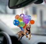 Pitbull fly with bubbles dog hanging ornament-Flat 2D Effect