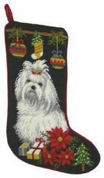 Maltese Christmas Stocking