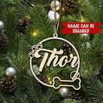 Custom Dog'S Name Christmas Ornament