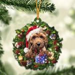 Cockapoo Christmas Gift Acrylic Ornament