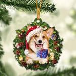 Corgi Christmas Gift Acrylic Ornament