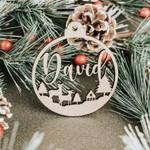Christmas Ornaments, Custom Name Ornament, Personalized Ornament