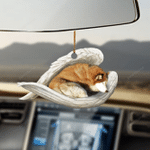 Red Husky sleeping angel red husky lover dog mom ornament cus tjl