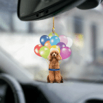 Poodle fly with bubbles dog hanging ornament-2D Effect