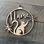 Personalized Cat Ornament! Your Cat'S Name On A Custom Kitten Paw Or Christmas Ornament - Laser Cut The Perfect Gift For A Cat Lovers 2