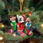 Jack Russell Terrier Christmas Socks Ornament