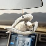 Borzoi sleeping angel Borzoi lovers dog moms ornament