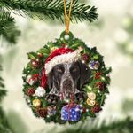 German Shorthaired Pointer Christmas Gift Acrylic Ornament