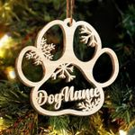 Personalized Paw Christmas Ornament