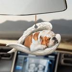 Bulldog sleeping angel bulldog lovers dog moms ornament