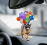 English Mastiff Dog Fly With Bubbles Car Hanging Ornament-2D Effect