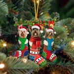 Yorkshire Terrier Christmas Socks Ornament