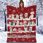 Maltese - Christmas Blanket