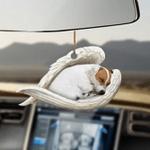 Jack Russell Terrier Sleeping Angel Dog Moms Ornament