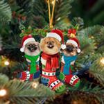 Pekingese Christmas Socks Ornament