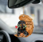 Rottweiler forever in my heart rottie hanging ornament-2D Effect