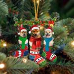 Shiba Inu Christmas Socks Ornament