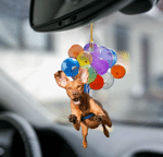 Vizsla Fly With Bubbles Dog Hanging Ornament-Flat 2D Effect