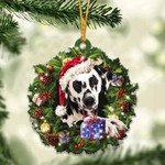 Dalmatian Christmas Gift Acrylic Ornament