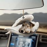 Fox Terrier Sleeping Angel - Hanging Ornament