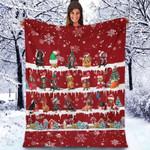 Dachshund - Christmas Blanket