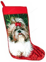 Shih Tzu Christmas Stocking