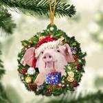 Pig Christmas Gift Acrylic Ornament