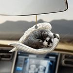 Schnauzer sleeping angel schnauzer lovers dog lovers ornament