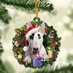 Bull Terrier Christmas Gift Acrylic Ornament