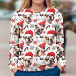 English Bulldog - Xmas Decor - Premium Sweatshirt