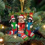 Havanese Christmas Socks Ornament