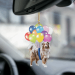 Australian Shepherd Dog Fly With Bubbles Dog Hanging Ornament-2D Effect
