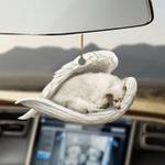 American Eskimo sleeping angel American Eskimo lovers dog moms ornament cus