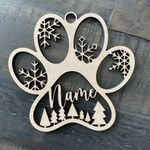 Personalized Cat Ornament! Your Cat'S Name On A Custom Kitten Paw Or Christmas Ornament - Laser Cut The Perfect Gift For A Cat Lovers
