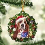 Basset Hound Christmas Gift Acrylic Ornament