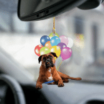 Boxer fly with bubbles dog hanging ornament-2D Effect