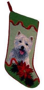 West Highland White Terrier Christmas Stocking